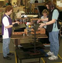 Manufacturing Music stands at Manhasset Specialty Compnay.