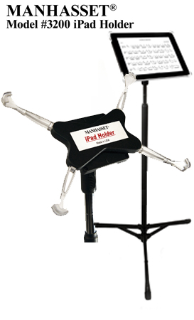 The MANHASSET® iPad Mount - changing the way musicians play by providing convenient music solutions for the Apple iPad.